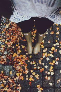 hunters & autumn leaves.