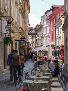 Gorgeous street in Ljubljana, Slovenia