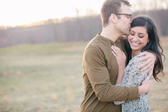 Rustic and romantic engagement session