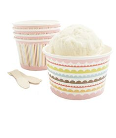 Throw a sweet, decadent bash, thanks to these tips for a low-stress ice cream social. Ice Cream Bowl, Ice Cream Party, Cream Cups, Cream Bowls, Sundae Cupcakes, Colorful Ice Cream, The Giving Tree, Paper Bowls, Custom Cups