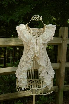 Crochet Lace Ruffle Vest Love this!