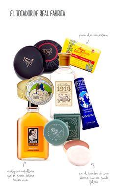 Collage de Mr.Wonderful con los productos de El Tocador de Real Fábrica