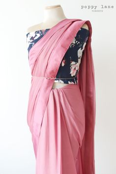 Pretty Pink Georgette Saris. Shop now at poppylane.ca