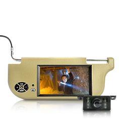 "Sun Visor + 7"" LCD Monitor + Waterproof 420 TVL Rearview Camera (Left, PAL)"