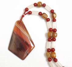 Red Agate Statement Necklace £25.00