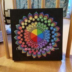 Mandala, dot mandala, mandala wall hanging, gift, Christmas 2018 gift, small painting, for her, daughter, sister, mom, home or office Decor by CreativeKanvas on Etsy