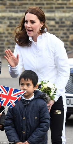 Despite being six months' pregnant she showed no sign of fatigue during her second engagem... #katemiddleton #royals