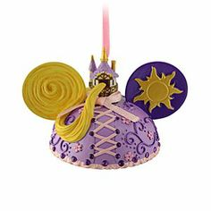 Disney Ear Hat Rapunzel Ornament | Disney StoreEar Hat Rapunzel Ornament - The artistic Disney Princess brings her signature style to this Ear Hat Rapunzel Ornament. Created by Disney artist Cody Reynolds, this detailed ornament features the Tangled star's golden hair, tower and sparkling rhinestones.