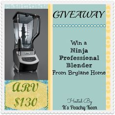 Enter to win a Ninja Blender for your kitchen! Ends 1/20/14