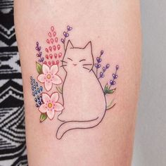 50 cute tattoos for women - tattoo designs - 50 cute tattoos for women - Bild Tattoos, Body Art Tattoos, New Tattoos, Small Tattoos, Cat Face Tattoos, Tattoo Art, Cat Outline Tattoo, Cute Cat Tattoo, Simple Cat Tattoo
