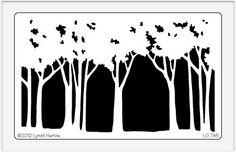 Dreamweaver Giant Brass Stencil - Tree Line