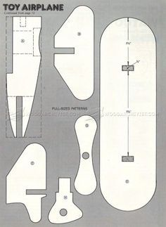 #495 Wooden Airplane Plans - Wooden Toy Plans
