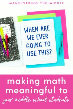 New teachers want math to be relevant and exciting to their students. Here are 4 low-lift ways to incorporate meaningful math into your classroom.| maneuveringthemiddle.com First Year Teaching, New Teachers, Helpful Hints, Classroom, Student, Math, Class Room, Useful Tips, Math Resources