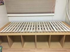 前回ご紹介した「三段BOXとすのこ」で作ったベッド。 今回は、そのベッドにつける「ベッドヘッド」の作り方をご紹介します。 ベッドヘッドのない状態でも十分ベッド…