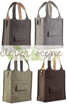 BAG TO MAKE - From old suit jacket!  what a CUTE idea! ;)  and you get to repurpose old stuff, too!