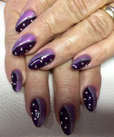 Ein Traum in lila und Flieder mit silberglitzer und swarovskisteinchen