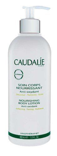 Caudalie Nourishing Body Lotion 13.5 fl oz. by Caudalie. $32.25. Firms and softens the skin. Protects with antioxidants. Delicate aroma. Moisturizes and nourishes. Encourages microcirculation. This deeply nourishing body moisturizer uses nutrient-rich actives to boost softness, elasticity and skin health. Grape polyphenols help slow the onset of visible signs of aging while ginkgo biloba extract encourages microcirculation. After use, the skin exhibits a firmer, more supple t...