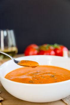 Homemade Tuscan Tomato Bisque in the Vitamix