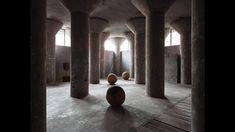 Clay spheres by Bosco Sodi at Axel Vervoordt Gallery's Karnak space - YouTube