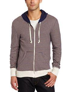 Alternative Men's Clifford Stripe Zip Hoodie « Clothing Impulse Large Men Fashion, Men's Fashion, Fashion Outfits, Alternative Men, Style Men, My Style, Hoodie Outfit, Zip Hoodie, Cloths