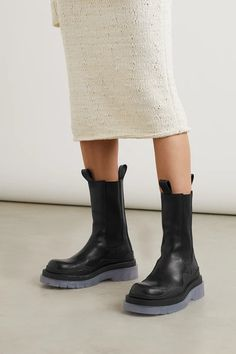 Shoes Boots Ankle, Sock Shoes, Combat Boots, Chunky Boots, Leather Chelsea Boots, Bottega Veneta, Fashion Advice, Designer Shoes, Editorial Fashion