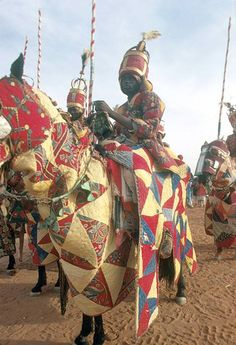 Quilted armored Hausa Calvary.