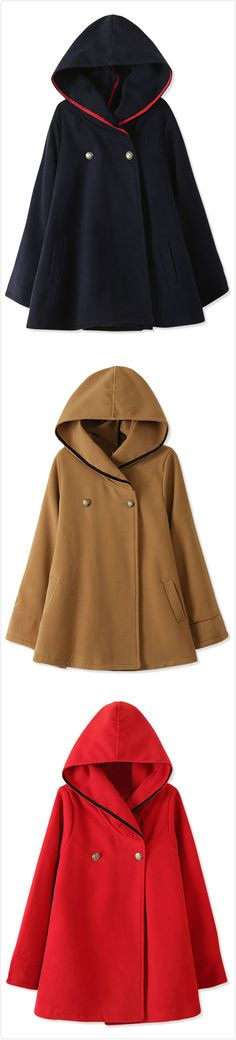 Essential Fashion Hooded Woolen Cape