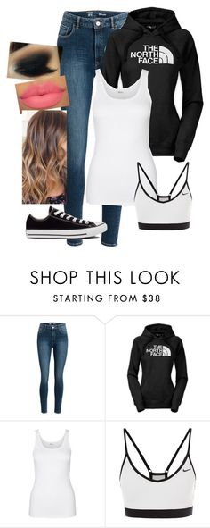 """North Face"" by amilne-10 ❤ liked on Polyvore featuring The North Face, Schiesser Revival, NIKE and Converse"