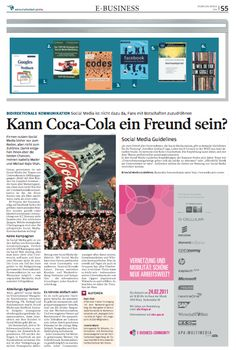 """""""Kann Coca-Cola ein Freund sein?"""" Mader, Isabella/Shah, Michael Rajiv (c) Wirtschaftsblatt, 24.02.2011"""