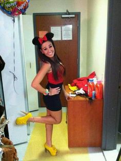 Minnie mouse Halloween costume so easy and cute