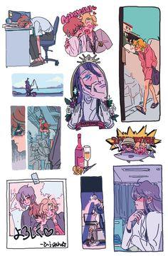 Pretty Art, Cute Art, Cartoon Art Styles, Character Design Inspiration, Art Sketchbook, Aesthetic Art, Drawing Reference, Cute Stickers, Cute Drawings