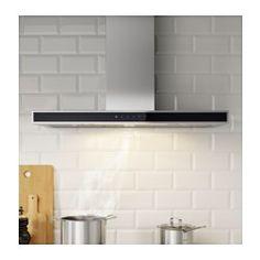 IKEA - KULINARISK, Vægmonteret emhætte, 5 års garanti. Læs betingelserne i garantifolderen.Touch-panel er placeret forrest, så det er nemt at nå og bruge.Fjerner hurtigt og effektivt damp og mados takket være det store udsugningsområde.Inkl. 2 LED pærer. Gi