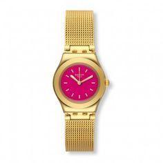 Swatch Metallix Twin Pink horloge YSG142M