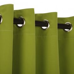Sunbrella Outdoor Curtain w/ Grommets - Macaw Green - Love this color