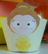 Beauty and the Beast Belle PDF Download Cupcake Set