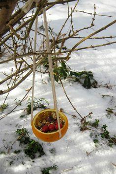4 easy bird feeder crafts. No peanut butter required!