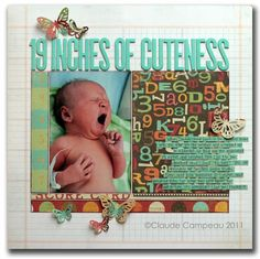 layout ideas  Love the title Baby boy Scrapbook page