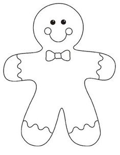 photograph about Printable Gingerbread Man identified as 8 Easiest Gingerbread person template pictures inside 2018 Felt