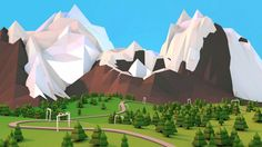 Cinema 4D - Creating Low-Poly Mountains Tutorial