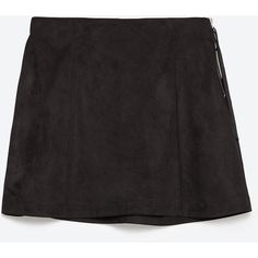 Zara Mini Skirt ($13) ❤ liked on Polyvore featuring skirts, mini skirts, black, short skirts, mini skirt, short mini skirts and zara skirt