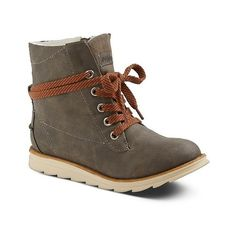 Women's Mad Love Wanda Shearling Style Boots - Olive Heather . (30 CAD) ❤ liked on Polyvore featuring shoes, boots, olive heather, mad love shoes, skate shoes, oliver boots, olive green shoes ve army green shoes
