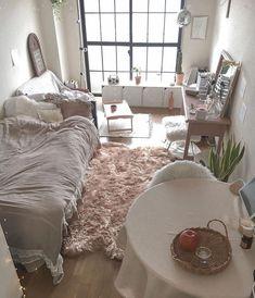 Korean Bedroom Ideas, Cute Bedroom Ideas, Room Decor Bedroom, Diy Room Decor, Pinterest Room Decor, Minimalist Room, Aesthetic Room Decor, Home Room Design, Cool Rooms