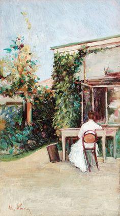 """Theodor Aman, """"Lectură în grădină"""""""