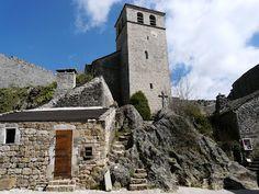Iglesia Saint Cristol en La Couvertoirade (Francia)