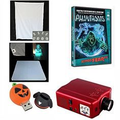 Atmosfearfx Phantasm Video Projector Bundle Includes Atmosfear Fx Halloween Dvd, Window and Hologram…