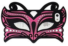 New 3D Cute Cat Face Nice Gift Silicone Face Mask Phone Case New Design in Butterfly Fairy for Iphone 5/5s (Hot Pink) - http://mygourmetgifts.com/new-3d-cute-cat-face-nice-gift-silicone-face-mask-phone-case-new-design-in-butterfly-fairy-for-iphone-55s-hot-pink/