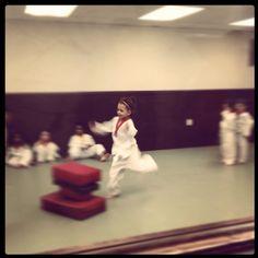Katie at karate class.