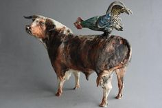 Cock and Bull by Ostinelli and Priest. Ceramic.