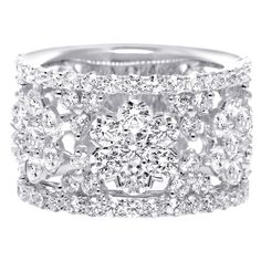 Wide Diamond Wedding Band   From a unique collection of vintage wedding rings at http://www.1stdibs.com/jewelry/rings/wedding-rings/