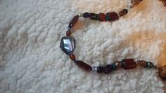 Long Hippy Beaded Necklace Upcycled and Funky OOAK Recycled Earthfriendly by SpoonersMusings on Etsy